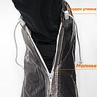 Бахилы для обуви от дождя снега грязи VOLRO L многоразовые с молнией и шнурком-утяжкой Black (vol-401), фото 4