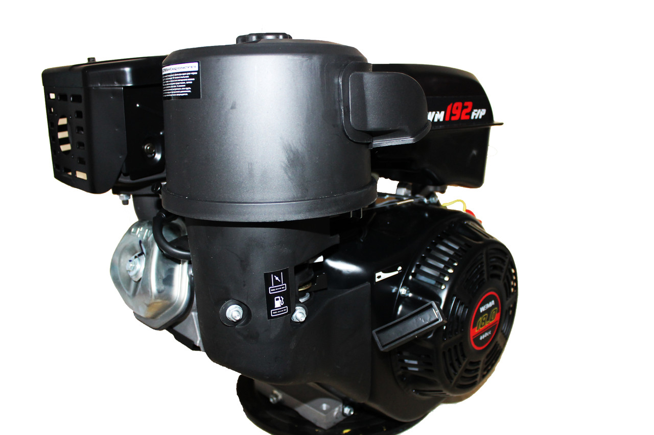 Двигун бензиновий Weima WM192F-S (CL) (відцентрове зчеплення, шпонка, 18 л. с., ручний стартер)