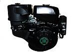 Двигун бензиновий GrunWelt GW460FE-S (CL) (відцентрове зчеплення, шпонка 25 мм, ел/старт), фото 3