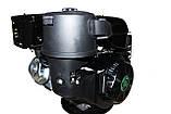 Двигун бензиновий GrunWelt GW460FE-S (CL) (відцентрове зчеплення, шпонка 25 мм, ел/старт), фото 4