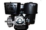Двигун бензиновий GrunWelt GW460FE-S (CL) (відцентрове зчеплення, шпонка 25 мм, ел/старт), фото 5