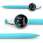 Кулькова ручка Гаррі Поттер, яскрава та стильна, з героями улюбленої гри Harry Potter, синя паста