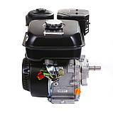 Двигун бензиновий Weima WM170F-L (R) NEW з редуктором (шпонка, вал 20 мм, 1800 об/хв, резервуар 5 л, 7.5 л. з), фото 3