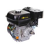 Двигун бензиновий Weima WM170F-L (R) NEW з редуктором (шпонка, вал 20 мм, 1800 об/хв, резервуар 5 л, 7.5 л. з), фото 5