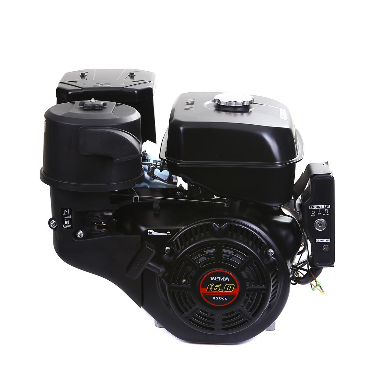 Двигун бензиновий Weima WM190FЕ-S New (шпонка, 16 л. с., електростартер)