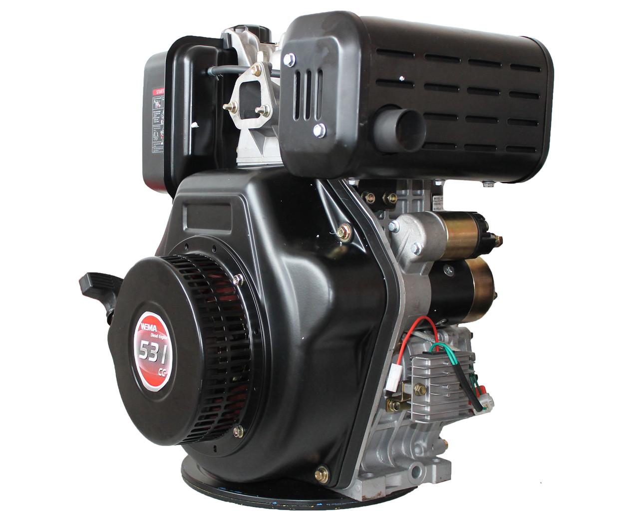 Двигатель дизельный WEIMA WM195FE (15 л.с., вал под шпонку 25 мм)