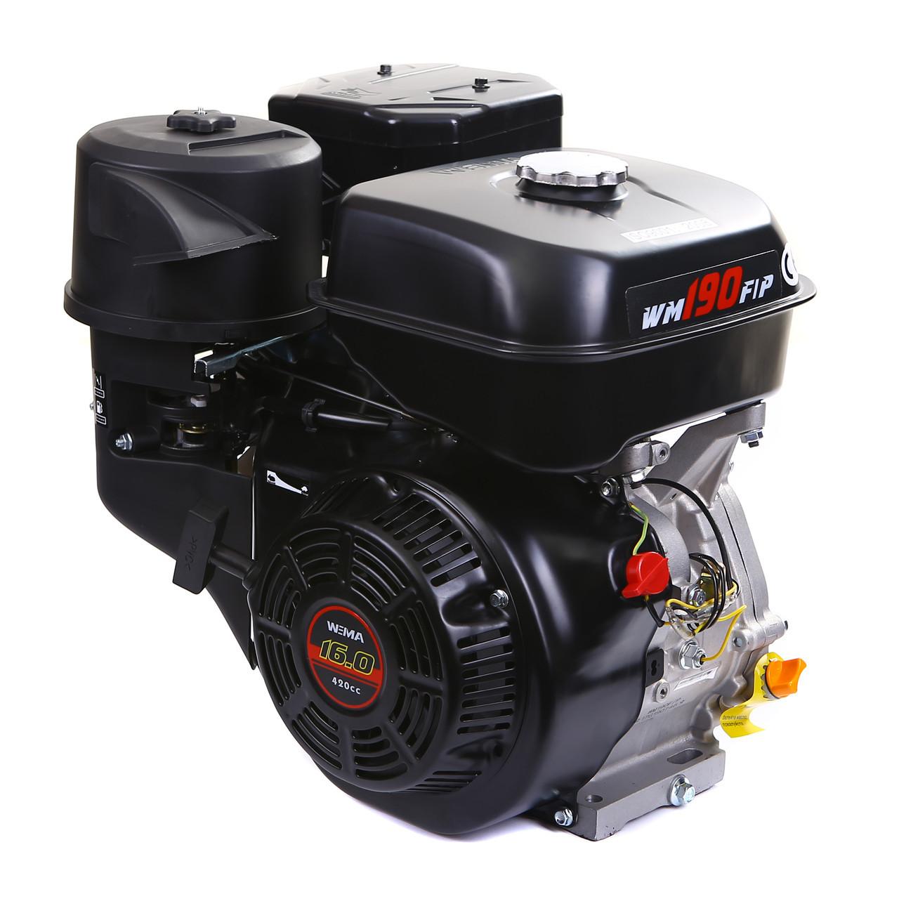 Двигун бензиновий Weima WM190F-S ЄВРО 5 (шпонка, 25 мм, 16 л. с., ручний стартер)