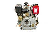 Двигун дизельний Weima WM178FЕ (вал під шліци) 6.0 л. с., ел. старт, фото 4