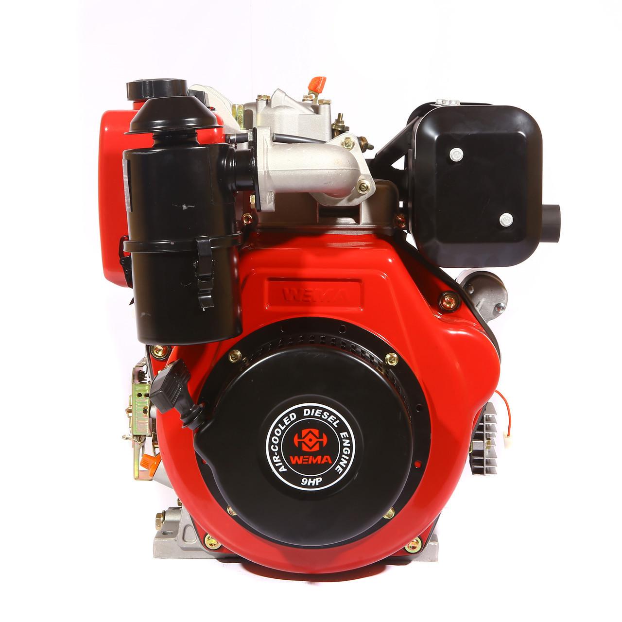 Двигун дизельний Weima WM186FBES (R) 9.5 л. с. (шпонка, 1800об./хв) + редуктор
