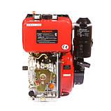 Двигун дизельний Weima WM186FBES (R) 9.5 л. с. (шпонка, 1800об./хв) + редуктор, фото 4