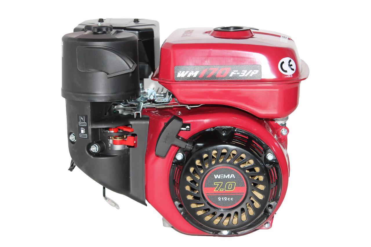 Двигун бензиновий Weima WM170F-3 (R) New (1800об/хв, шпонка, шестерний редуктор, 7 л. с.)