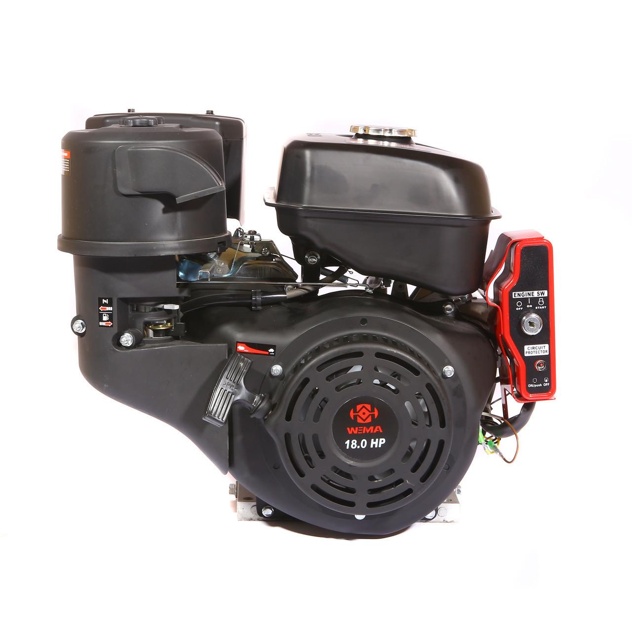Двигун бензиновий Weima WM192FЕ-S New (шпонка, 18 л. с., електростартер)