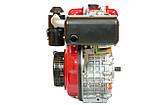 Двигун дизельний Weima WM186FB (вал під шліци, 9,5 л. с.), фото 2