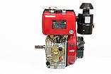 Двигун дизельний Weima WM188FB (вал під шпонку) 12 л. с., шпонка, фото 2