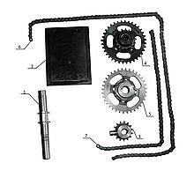 """Комплект для установки активной фрезы на минитрактор """"Премиум"""""""
