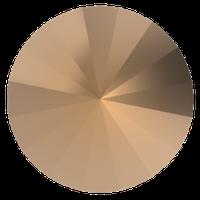 Пришивные риволи Preciosa (Чехия) 12 мм Crystal Monte Carlo/золото