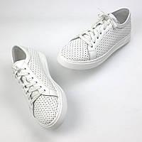 Легкие летние кроссовки кеды кожаные женская обувь больших размеров Rosso Avangard Pura WhitePerf EVA, фото 1