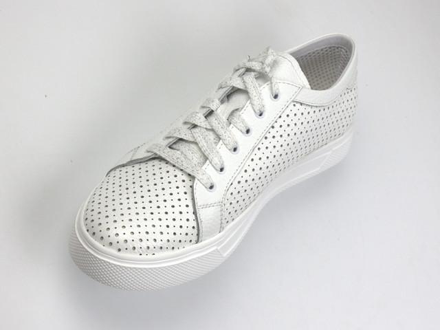 Легкие летние кроссовки кеды кожаные женская обувь больших размеров Rosso Avangard Pura WhitePerf EVA
