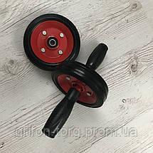 Двойной ролик для пресса, колесо для пресса, металлический  ролик на подшипнике, фото 3