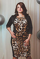 Стильное тигровое женское платье Мерилин , фото 1