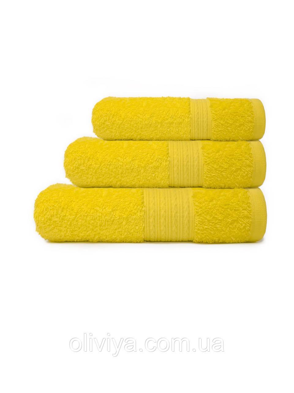 Полотенца для гостиниц лимонного цвета