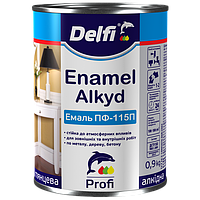 Эмаль алкидная ПФ-115 П  Delfi коричнева 0,9 кг
