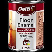 Эмаль алкидная ПФ-266 для пола  Delfi желто коричневая 0,9 кг