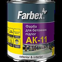 Фарба для бетонних підлог АК-11 Farbex світло сіра 2,8 кг