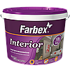 Interior Фарба інтер'єрна високоякісна водно-дисперсійна акрилова Farbex 6 кг