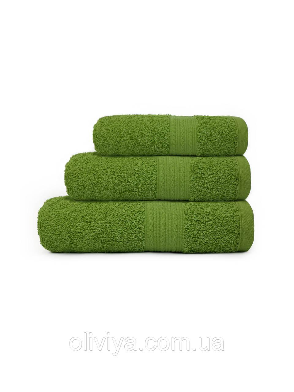 Махровые полотенца для гостиниц зеленого цвета