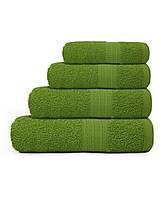 Махровые полотенца для гостиниц зеленого цвета, фото 2