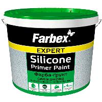 Фарба-грунт силіконова з кварцовим наповнювачем Farbex біла матова 4,2 кг