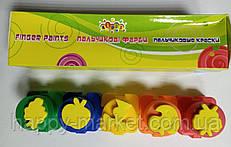 Фарби для пальчиків 4кол. у баночках PK-03-01 + тісто для ліплення 7цв.