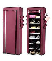 Портативный тканевый шкаф для обуви и аксессуаров Shoe Rack and Wardrobe