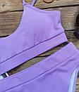Жіночий купальник топ лаванда лакоста, фото 6