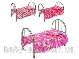Ліжко дитяче для ляльок залізна Melogo 9342