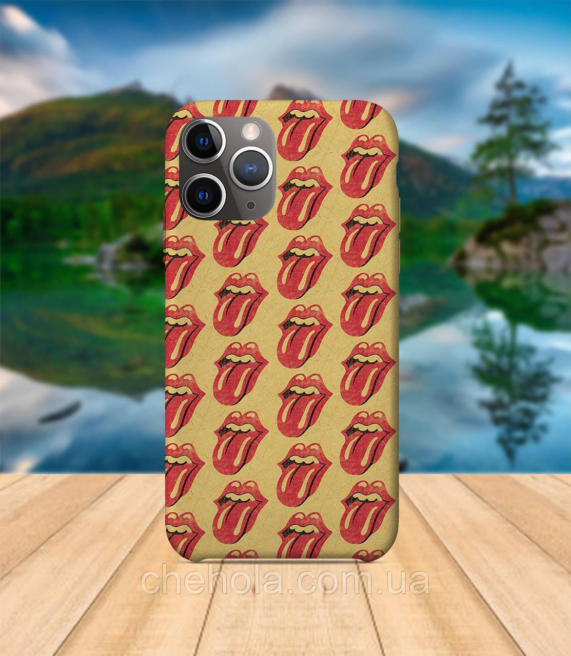 Чехол iPhone 11 PRO MAX Rolling Stones Губы с принтом