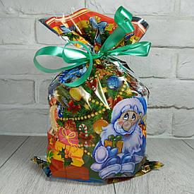 Новогодняя подарочная упаковка для конфет 25см 40см Гномы и Фея (100 шт)