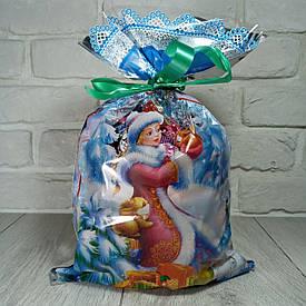 Новогодняя подарочная упаковка для конфет 25см 40см Снегурочка и белки 100шт