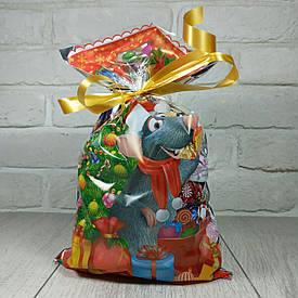 Новогодняя подарочная упаковка для конфет 20см 35см Мышонок (100 шт)
