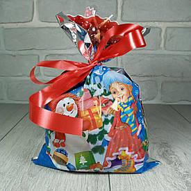 Новогодняя подарочная упаковка для конфет 20см 30см Снегурочка и снеговик (100 шт)