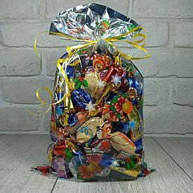 Новогодняя подарочная упаковка для конфет 20см 35см Игрушки (100 шт)