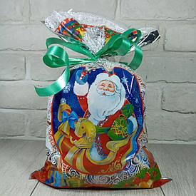 Новогодняя подарочная упаковка для конфет 25см 40см Дед Мороз в санях (100 шт)