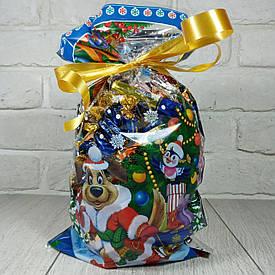Новогодняя подарочная упаковка для конфет 20см 35см Рождество (100 шт)