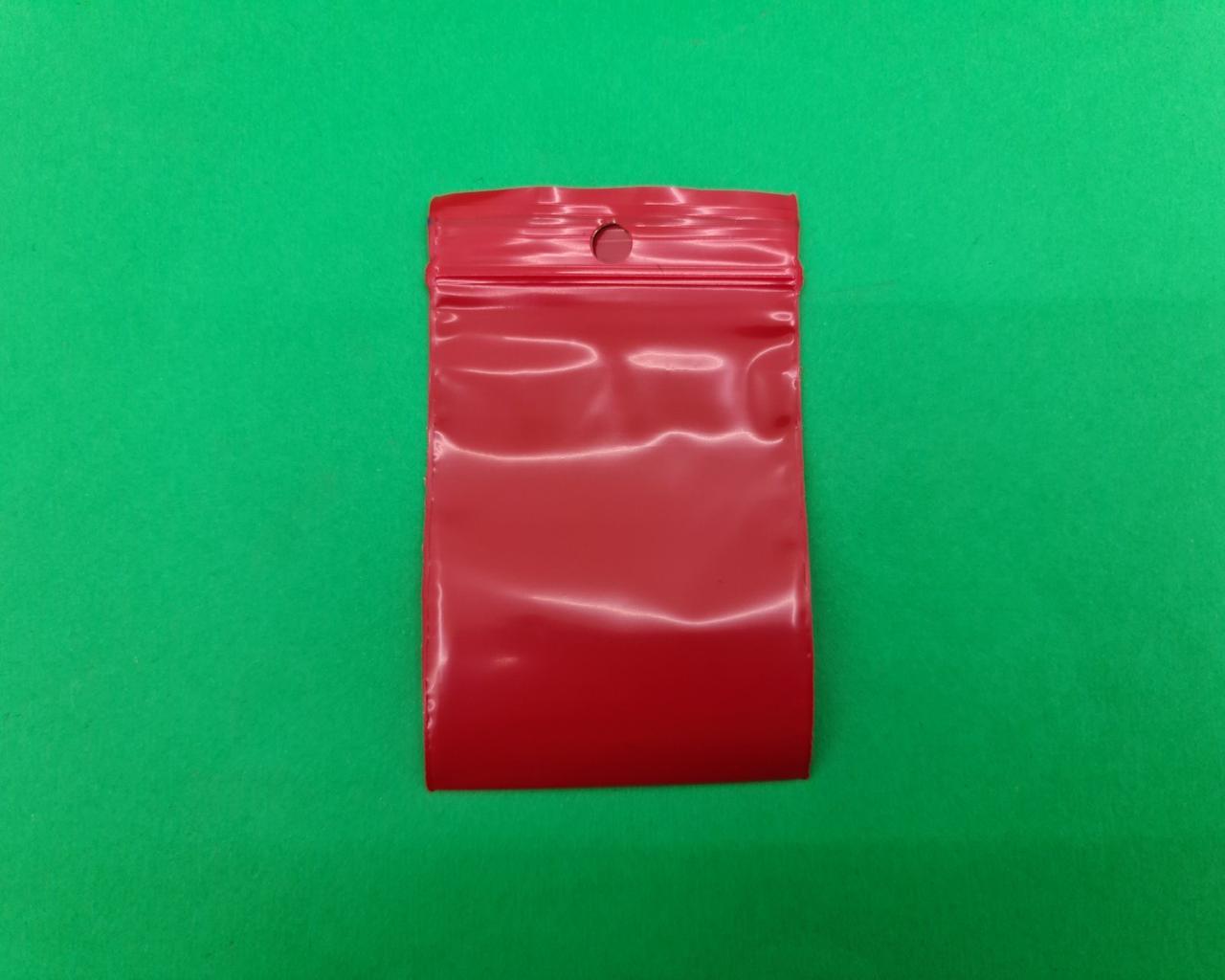 Пакет з замком zipp 5x7 червоний (50шт) (1 пач.)