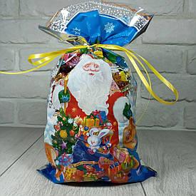 Новогодняя подарочная упаковка для конфет 20см 35см Снеговик на санях (100 шт)