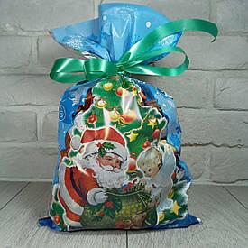 Новогодняя подарочная упаковка для конфет 25см 40см Дед Мороз и ангел (100 шт)