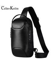 Сумка Мужская Кросс Боди сумка черная через плечо