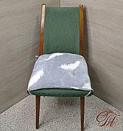 Подушки для стульев с завязками  Перышко на сером, фото 2