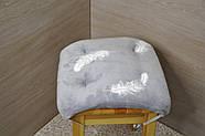 Подушки для стульев с завязками  Перышко на сером, фото 3